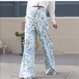 Lovers + friends wide leg floral pants